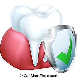 Tooth and Gum Protection Concept - A medical dental...
