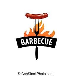 Barbecue party logo - logo design template for a barbecue....