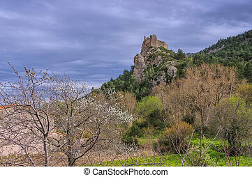 castle Padern in France - cathare castle Padern in southern...