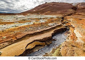 Stunning Namafjall terrain in Iceland