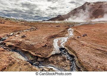 Breathtaking Namafjall terrain in Iceland