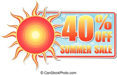 40 percentages off summer sale, vec - 40 percentages off...