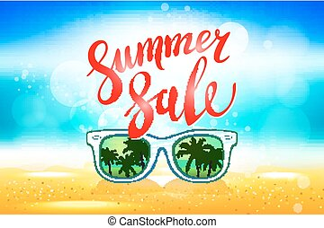 Summer sale marketing template with copy space EPS10 vector...