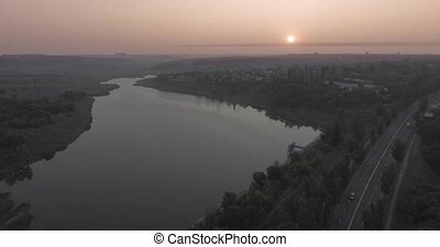 donetsk city from the drone view - donetsk city from the...