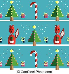 Christmas Seamless pattern squirell