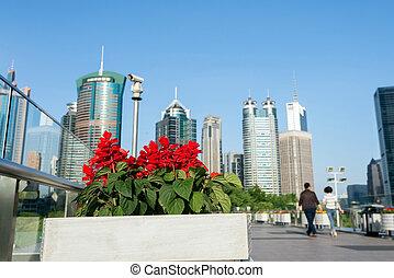 Skyscrapers in Shanghai, China - China Shanghai landmark and...