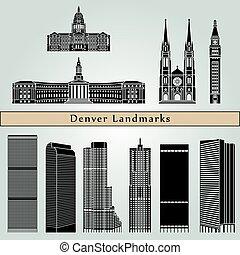 Denver Landmarks - Denver landmarks and monuments isolated...