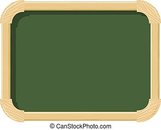 Wooden school chalk board with wood texture on a white...