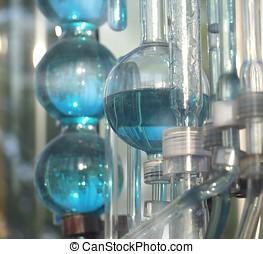 químico, vidrio, objetos