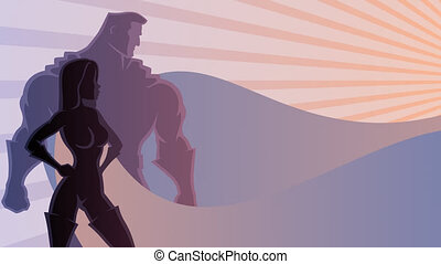 Superhero Couple 3 - Animation of superhero couple