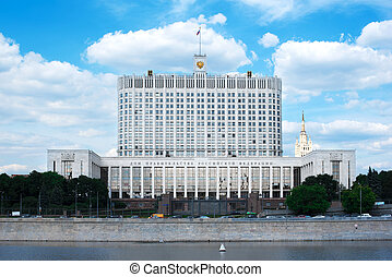 Government of the Russian Federation in Moscow. White House...