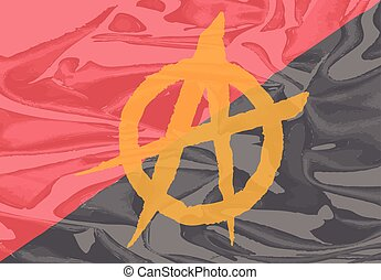 Red and Black Anarchy Flag - The red and black anarchy flag...