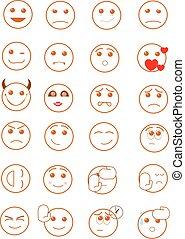 Smiley faces - A set of smiley faces.