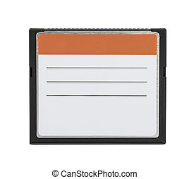 Compact Flash memory cards CF card isolate on white...