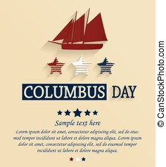 Columbus day card Vector illustration