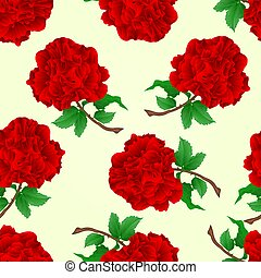Seamless texture red rose stem  vintage vector.eps