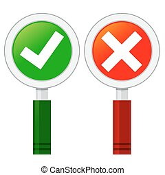 Check Mark In Hand Held Sign Board - Vector stock go check...