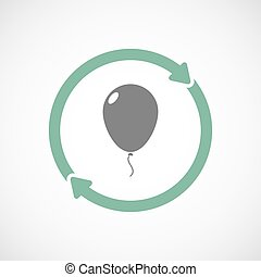 Isolated reuse icon with a balloon