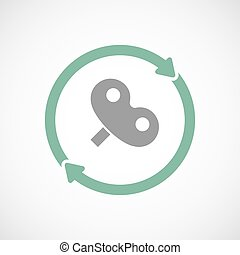 Isolated reuse icon with a toy crank - Illustration of an...