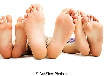 Human soles - Close-up of human soles during relaxation on...