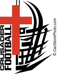 crusaders football team design with helmet and cross for...