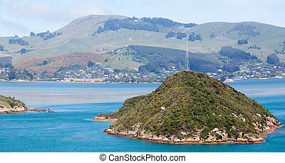 Dunedin City Suburbs - The panoramic view of Dunedin city...
