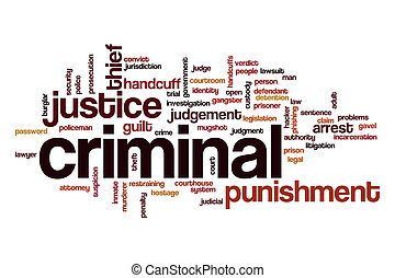 Criminal word cloud concept - Criminal word cloud