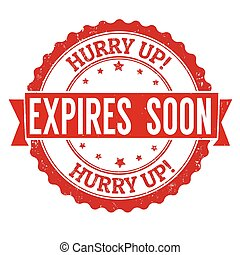 Expires soon stamp - Expires soon grunge rubber stamp on...