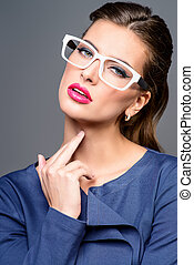 executive businesslady - Optics style Portrait of a...