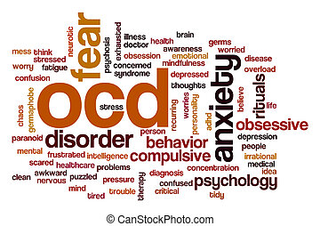 OCD word cloud concept