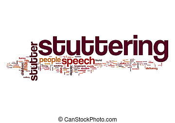 Stuttering word cloud concept - Stuttering word cloud