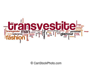 Transvestite word cloud concept