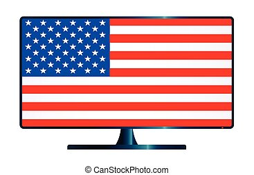 Stars And Stripes TV - A TV or computer screen with the...