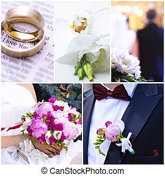 Wedding theme photo collage