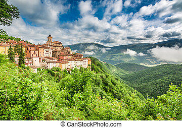 Beautiful small town, Umbria, Italy