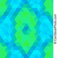 Abstract triangular background - Crazy colorful background...