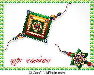 abstract raksha bandhan celebration background set vector...