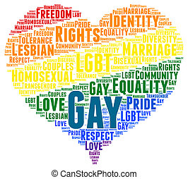 Gay rights word cloud concept