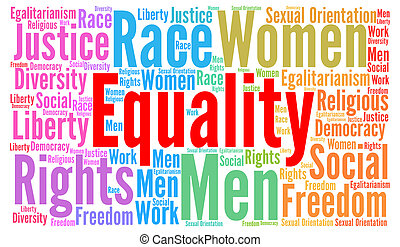 Equality word cloud concept