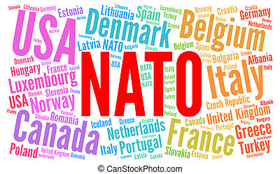 NATO countries word cloud