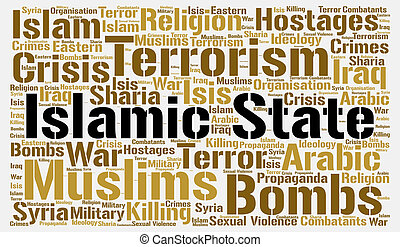 Islamic state word cloud concept
