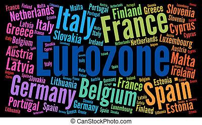 Eurozone word cloud concept