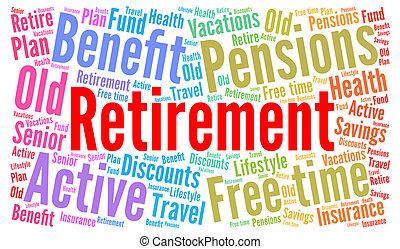 Retirement word cloud concept
