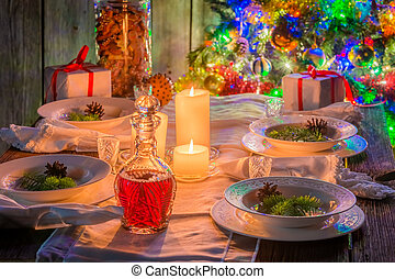 Breathtaking Christmas table setting