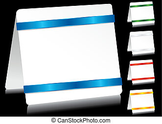 Sheet of paper on with brigth tape, vector illustration