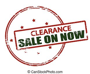 Clearance sale on now - Rubber stamp with text clearance...