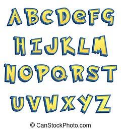 cartoon Lettering Design - Vector Illustration of cartoon...