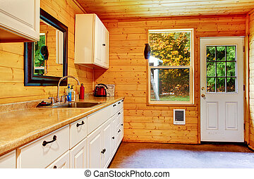 Small kitchen area at the horse ranch in Washington State