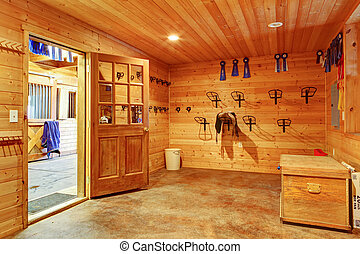 Beautiful clean stable horse barn. Storage room. Northwest,...