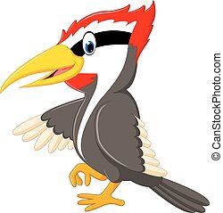 Woodpecker bird cartoon - illustration of Woodpecker bird...